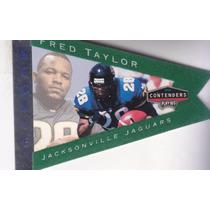 1998 Contenders Pennants Rc Green Felt Fred Taylor Jaguars