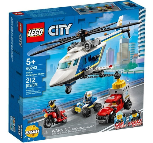 Set De Construcción Lego Policía: Persecución En Helicóptero