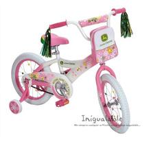 Bicicleta Para Niñas De John Deere Con Mochila