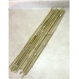 15 Varas De Bambú / Tutores Manualidades Jardinería 100 Cm V