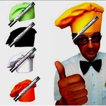 3 Sombreros De Tela Chef Colores Varios