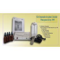 Kit Plata Coloidal, Desintoxicador Ionico Agua De Plata