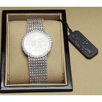 Reloj Patek Phillipe Oro Blanco 18k Diamantes Mujer