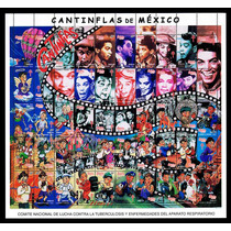 Mexico 2000 Cantinflas Planilla De 50 Timbres Diferentes. Ra