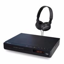 Paquete Dvd Speler + Audifonos Sony Mdrzx110b Negros Nuevos