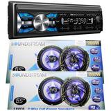 Autoestereo Soundstream Bluetooth + 4 Bocinas 6.5 Mp3