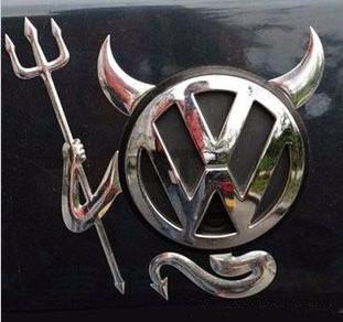 Sticker 3d Devil Mazda, Volkswagen, Bmw, Toyota, Hyundai Foto 1