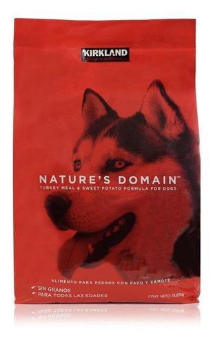 Alimento Kirkland Signature Nature's Domain Perro Pavo/camote 15.87kg