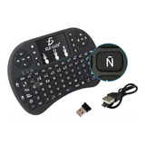 Mini Teclado Inalambrico Ñ Mouse Touchpad Android Tv Xbox Pc