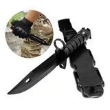 Cuchillo Entrenamiento Tactico Goma Con Funda Militares
