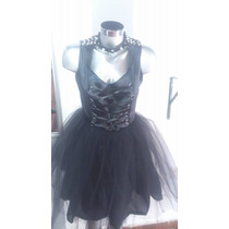 Vestido Gotico Dark, Con Velo, Para Graduaciones