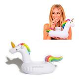Inflable Salvavidas Mini Unicornio Porta Vaso Alberca Fiesta
