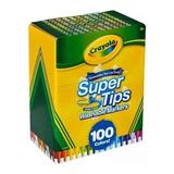 100 Marcadores Supertips Marca Crayola Plumones Lavables