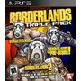 Ps3 - Borderlands Triple Pack - Nuevo Y Sellado - Ag