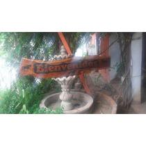 Carteles Tallados En Madera Rustica De Mezquite