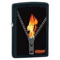 Encendedor Zippo Original Edicion Flame With Zipper
