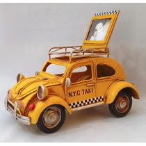 Vocho Taxi De Colección Y Portaretrato