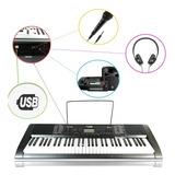 Teclado Musical 61 Teclas Tipo Piano Auxiliar Y Un Metodo Ax