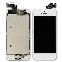 Iphone 5 5c 5s Vidrio Cristal Pantalla Lcd Blanco Negro