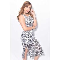 a0a1da3bf Vestido Largo De Noche Flores Negras - Holly Fashion Crystal en ...