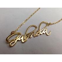 Nombres Personalizados Con Cadena Y Baño De Oro