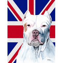 Pitbull Con El Inglés Union Jack Británica Bandera De La B