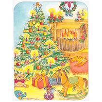 Juguetes De Todo El Cristal Del Árbol De Navidad Tarjeta De