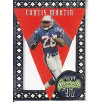 1997 Playoff Pennants Felt Curtis Martin Rb Pats