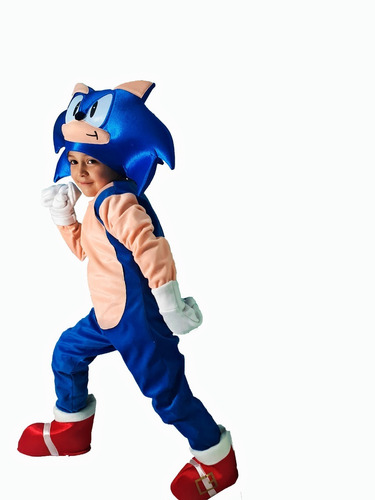 Disfraz Cosplay Tipo Sonic Boom Superheroe Erizo