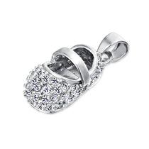 Pendiente Bling Jewelry Zapato Piedra Nacimiento Junio Plata