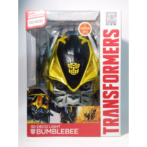Lampara De Pared 3d Deco Light Led Transformers Bumblebee
