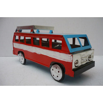Autobus De Pasajeros - Camioncito D Lamina Juguete Artesania