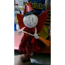 Halloween, Pluma De Bruja, Tinta Y Vestido Rojo Nueva Vbf