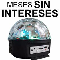 Vecctronica: Esfera Luz Disco Con Usb/sd Con Bocina Interna!