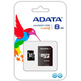 Memoria Micro Sd 8gb Adata Cl4 C/adaptador Ausdh8gcl4-ra1