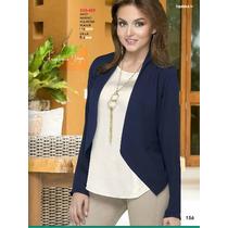 Saco-blazer- Azul Ala Moda Elegante-casual Fashion Terra
