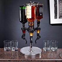 Dispensador Para 3 Botellas , Licor , Vino