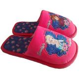 13-21.5 Pantuflas Para Niña Frozen Elsa Y Anna Y Peppa Pig