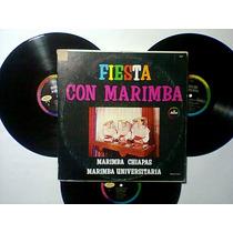 Fiesta Con Marimba Lp Triple Muy Raro Regional Folklore