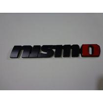 Emblema Nissan Nismo Jdm Emblema De Metal Nismo Color Negro