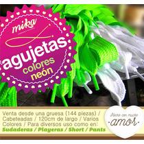 Mercería - Gruesa De Agujeta Color Neón 120cm Cabeteada