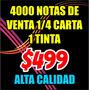 Notas De Venta Comandas 1/4 Carta  Bond 90g Oferta