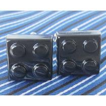 Mancuernillas Juguete Lego Negro De Acero Camisa Traje