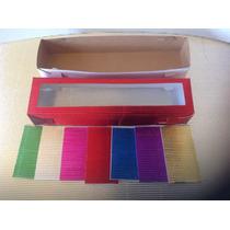 Caja De Carton Metalico Regalo, ,28x6x5 Cm De Alto $12