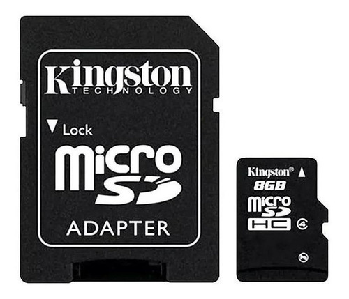 Tarjeta De Memoria Kingston Sdc4 Con Adaptador Sd 8gb