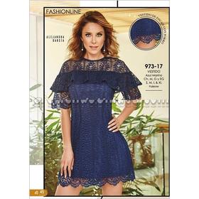 72a7b0abe Vestido Cklass Azul Marino 973-17.. Outlet saldos Mchn