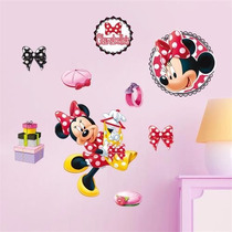 Vinil Decorativo - Minnie Mouse Moños - Entrega Inmediata