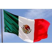 Bandera Mexico Satinada 2mt X1.4m Fiestas Patrias Septiembre