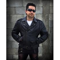 Chamarra Biker Aviador Motociclista Rock Metal Harley