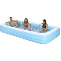 Familia Kiddie Pool - Inflable Gigante Rectangular Piscina -